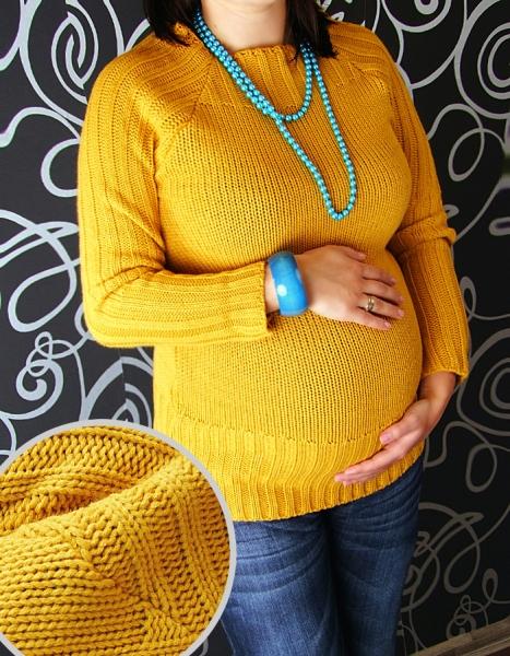 Těhotenský svetřík SELIN - medová
