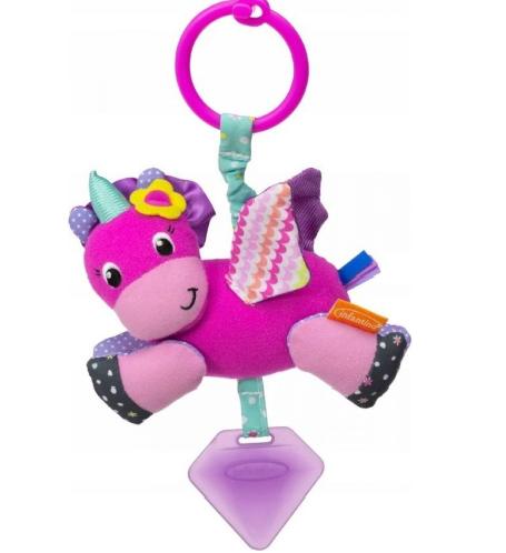 Infantino Závěsná plyšová vibrující hračka - Jednorožec