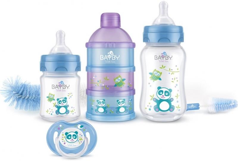Bayby, Dárková sada pro novorozence 6v1 -  6m+, modrá