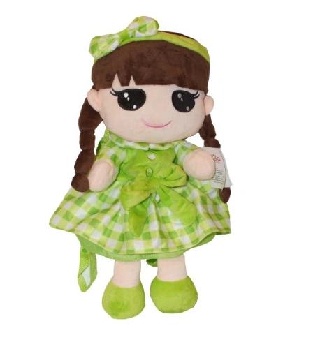 Tulilo Dětský batůžek panenka Kajka - zelený