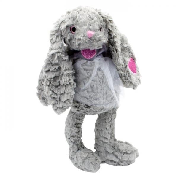 Plyšový králíček Rozárka v šifónových šatech,Tulilo, 32 cm