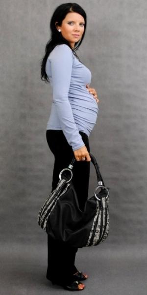 Be MaaMaa Těhotenské triko ELLIS - šedá, vel. L/XL