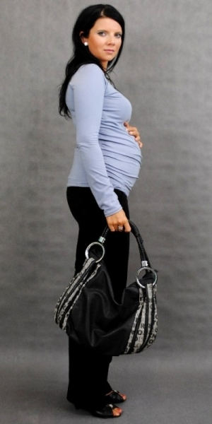 Těhotenské triko ELLIS - šedá