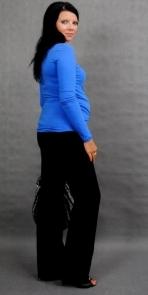 Be MaaMaa Těhotenské triko ELLIS - modrá