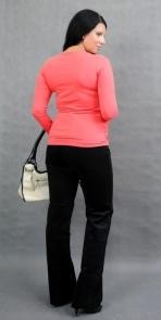 Be MaaMaa Těhotenské triko ELLIS - korálová