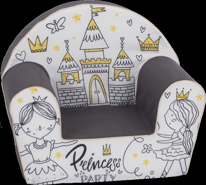 Delsit Dětské křesílko, pohovka - Princess Party
