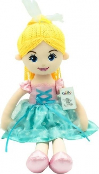 Hadrová panenka Emilka, Tulilo, 52 cm - blond vlasy