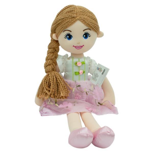 Hadrová panenka Emilka, Tulilo, 52 cm - hnědé vlasy