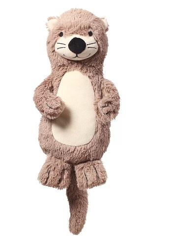 BabyOno Plyšová hračka s chrastítkem Otter Maggie Vydra, béžovo-hnědá
