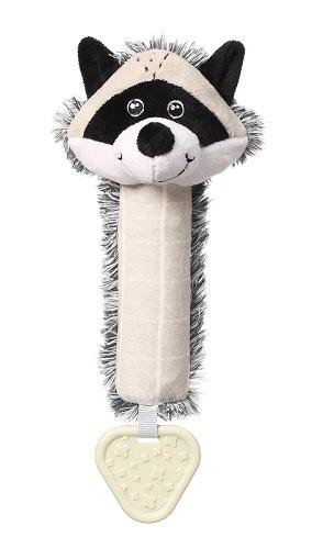 BabyOno Plyšová pískací hračka Racoon Rocky Mýval, černo-bílý
