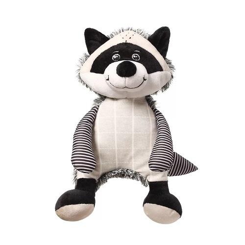 BabyOno Plyšová hračka s chrastítkem Racoon Rocky Mýval, černo-bílý