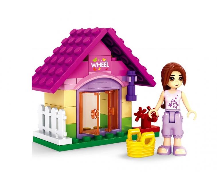 Dívčí stavebnice AUSINI - zahradní domek 44 dílů