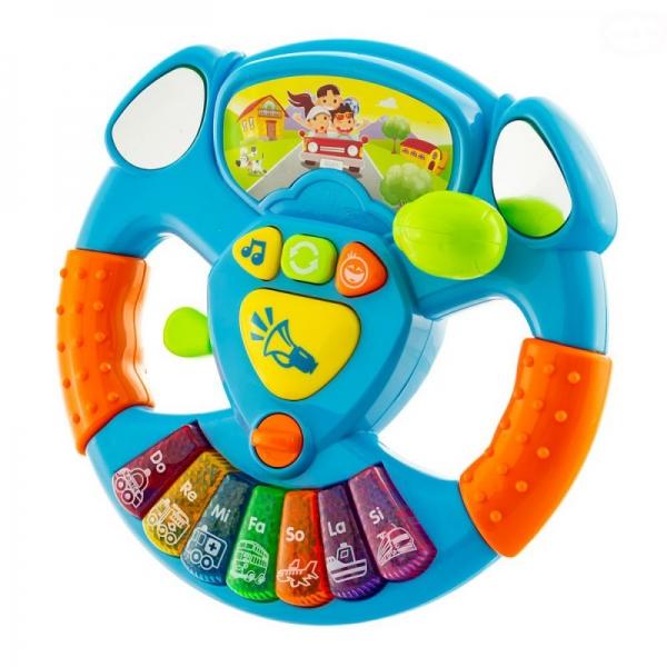 Euro Baby Interaktivní hračka s melodii Volant - modrý