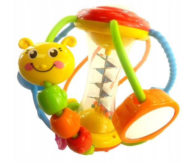 Euro Baby Interaktivní hračka s chrastítkem - housenka