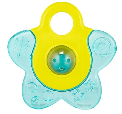 Canpol babies Kousátko vodní s chrastítkem - Hvězdička - tyrkys