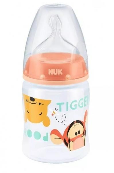 Lahvička NUK Medvídek Pú - růžová - 150 ml