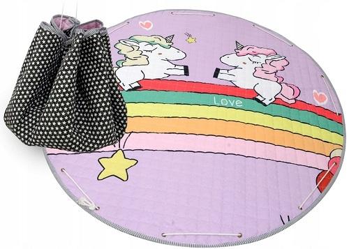 Tutumi Hrací deka - koš na hračky 150 cm - Unicorm