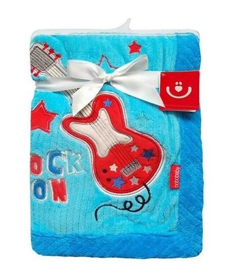 BOBO BABY Dětská deka v dárkové krabičce, 76x102 cm - Kytara, modrá