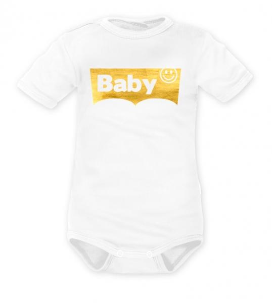 DEJNA Body krátký rukáv Baby - bílé, vel. 68
