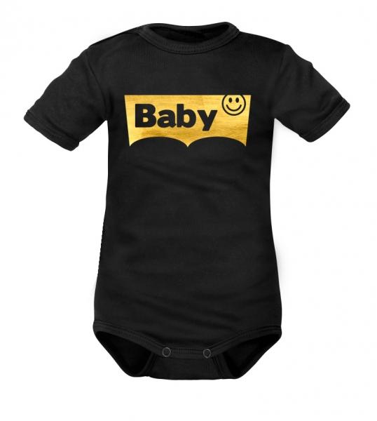 DEJNA Body krátký rukáv Baby - černé, vel. 80