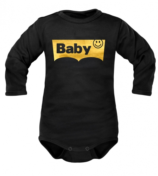 DEJNA Body dlouhý rukáv Baby - černé, vel. 92