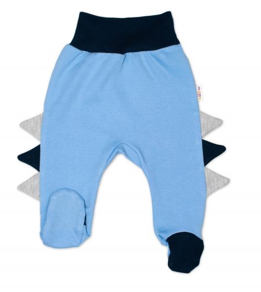 Baby Nellys Bavlněné kojenecké polodupačky, Crocodiles - modré