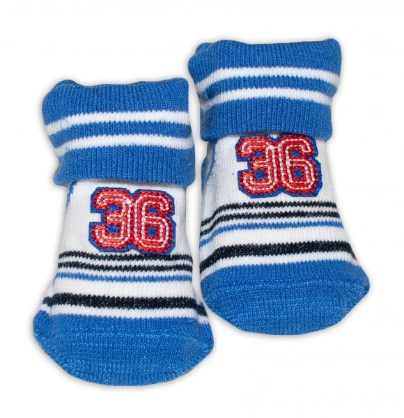 Kojenecké ponožky, 0 - 6 měsíců, Bobo Baby - Number 36, modrá