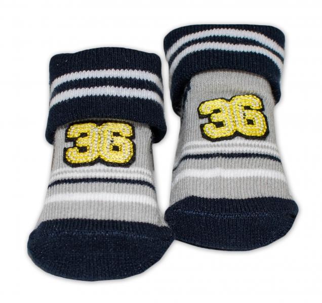 Kojenecké ponožky, 0 - 6 měsíců, Bobo Baby - Number 36, černá