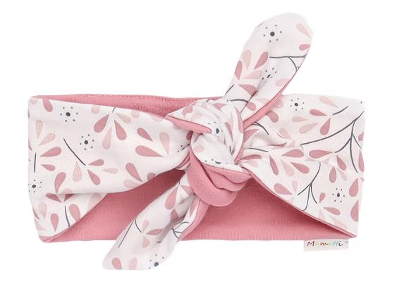 Mamatti Dětská čelenka Pin-up Tokio - růžová,bílá