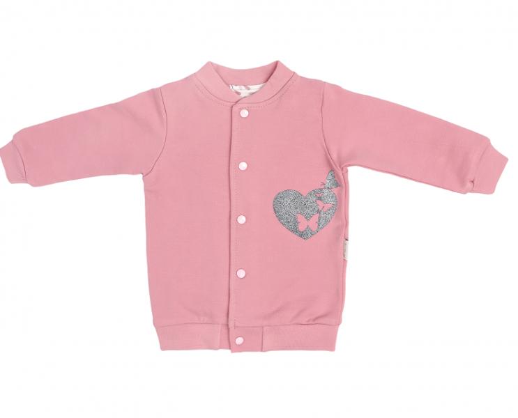 Mamatti Bavlněná dětská mikina Tokio - růžová, vel. 92, Velikost: 92 (18-24m)