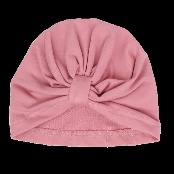 Mamatti Bavlněná  dětská čepice - turban, Tokio - růžová, vel. 2-3 roky