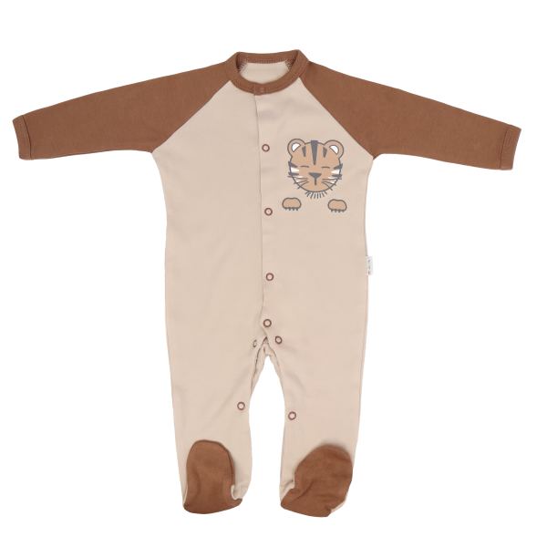 Mamatti Kojenecký bavlněný overálek Lion, béžovo-hnědý, vel. 74