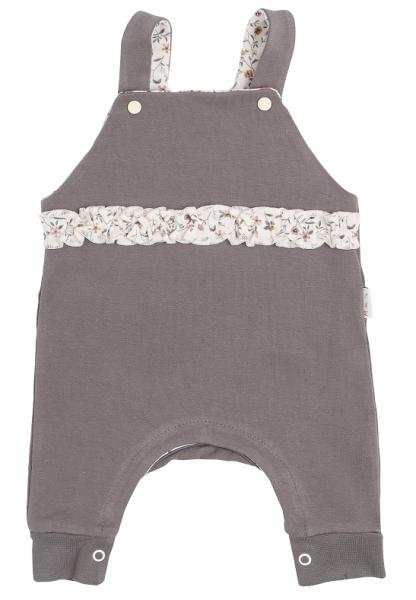 Mamatti Dětské láclové kalhoty Louka - šedé, vel.68, Velikost: 68 (4-6m)