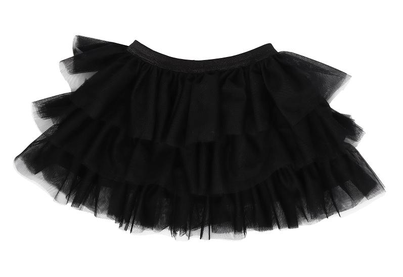 Mamatti Dětská tylová sukně Mašle - černá, Velikost: 74/80
