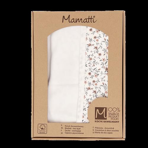 Mamatti Dětská oboustranná bavlněná deka, Louka v dárkové krabičce - 80x90 cm