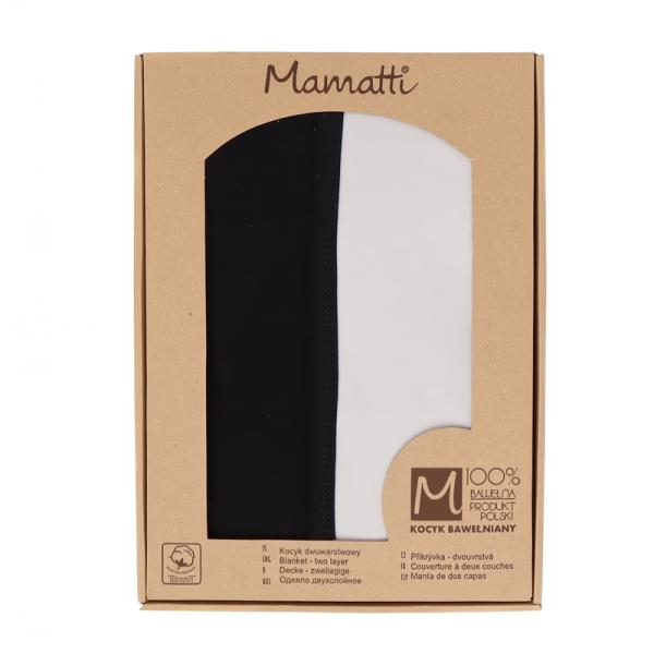 Mamatti Dětská oboustranná bavl. deka,Koala - 80 x 90 cm, v dárkové krabičce, černá-šedá