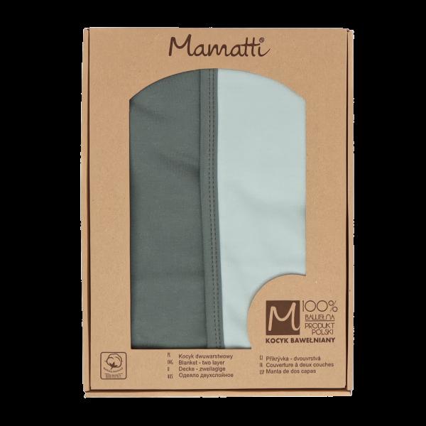 Mamatti Dětská oboust. bavl. deka, Super Boy - 80 x 90 cm, v dárk. krabičce, zelená-mátová