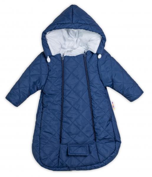 Kombinézka s kapucí do autosedačky, kočárku Lux Baby Nellys ®prošívaná - granát, Velikost: 56 (1-2m)