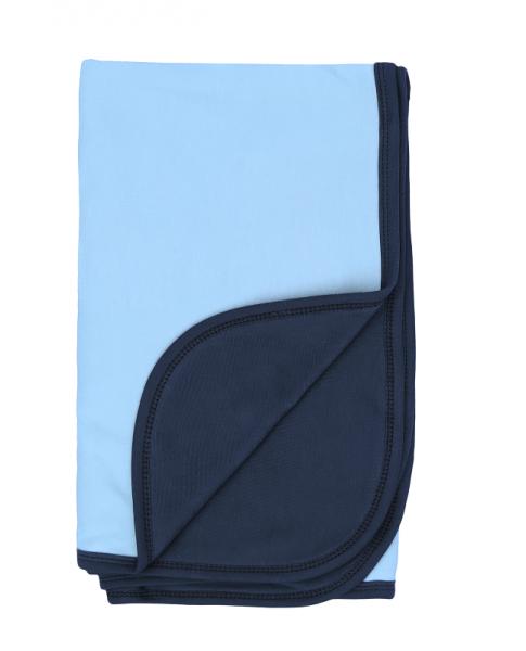 Mamatti Dětská oboustranná bavlněná deka, Happy - 80 x 90 cm, modrá-granát