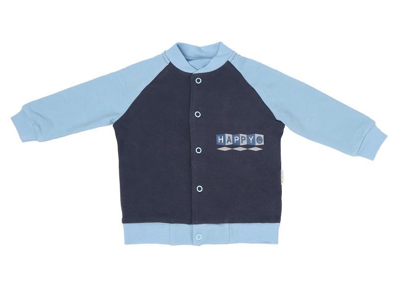 Mamatti Bavlněná dětská mikina Happy, granát-modrá, vel. 74, Velikost: 74 (6-9m)