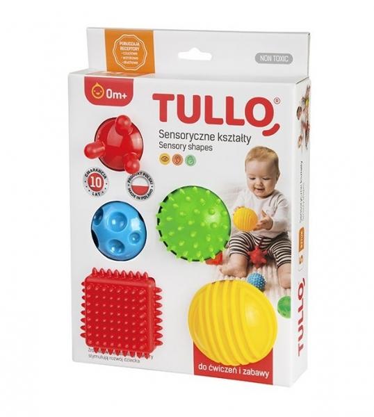 TULLO Edukační barevné míčky 5ks v krabičce