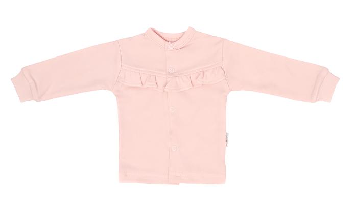 Mamatti Novozenecká bavlněná košilka, kabátek s krajkou, Flowers - růžová