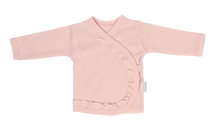 Mamatti Novozenecká bavlněná košilka zapínání bokem, Flowers - růžová