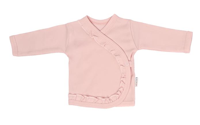Mamatti Novozenecká bavlněná košilka zapínání bokem, Flowers - růžová, vel. 62