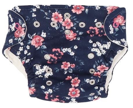 Mamatti Látková plenka EKO sada - kalhotky + 2 x plenka, vel. 3 - 8 kg, Flowers