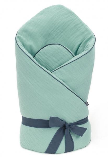 Mamo Tato Kojenecká zavinovačka, mušelinová double na zavazování, 70x70cm - zelená