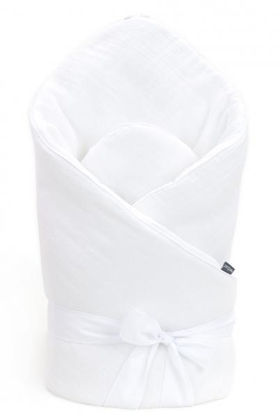 Mamo Tato Kojenecká zavinovačka, mušelinová double na zavazování, 70x70cm - bílá