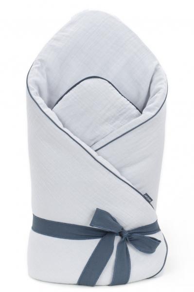 Mamo Tato Kojenecká zavinovačka, mušelinová double na zavazování, 70x70cm - sv. šedá