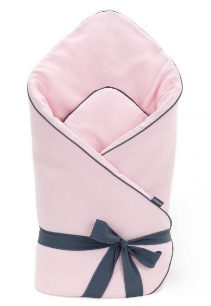 Mamo Tato Kojenecká zavinovačka, mušelinová double na zavazování - světle růžová
