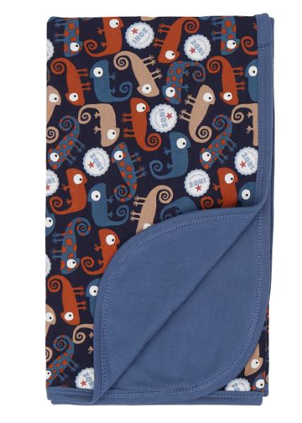 Mamatti Dětská oboustranná bavlněná deka, Chameleon - 80 x 90 cm, granát/granát se vzorem